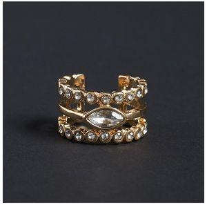 Luv AJ Exclusive Marquis Diamond Disc Ring